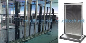 Transparent led screen for rent Nonstop solutions