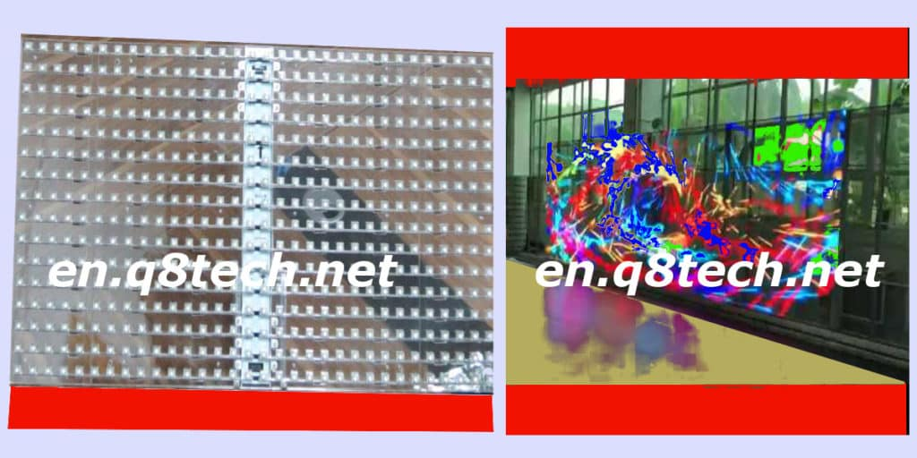 Indoor Transparent Led Screen Latest props