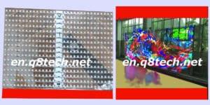 Indoor Transparent Led Screen Latest props