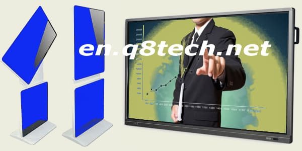Interactive screens touch display